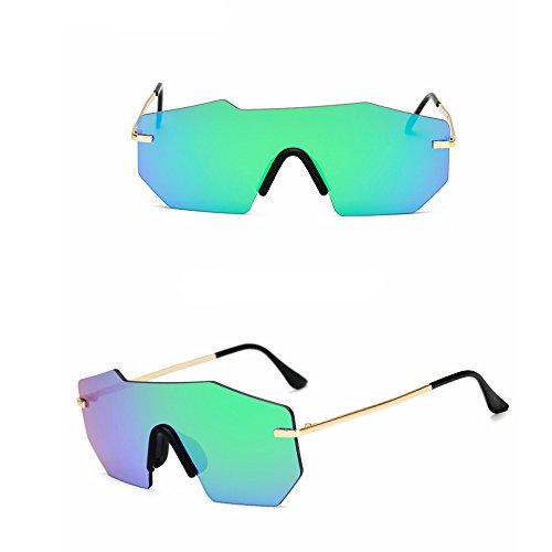 Green Sol para De Retro Gafas Sol Color De LBY Sol Hombres Pink Los Tide de Gafas Goggles De Hombre Metal Gafas Siamese z1tTtvxq