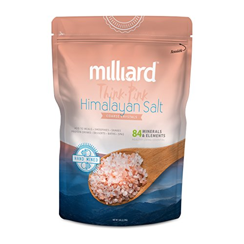 Milliard Himalayan Salt Coarse Crystals – 5Lb. Bag – Pure and Natural with Minerals and Nutrients for Health Benefits (3-6 mm)
