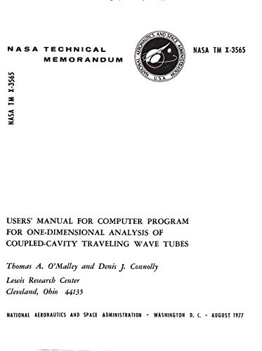 - Users' manual for computer program for one-dimensional analysis of coupled-cavity traveling wave tubes