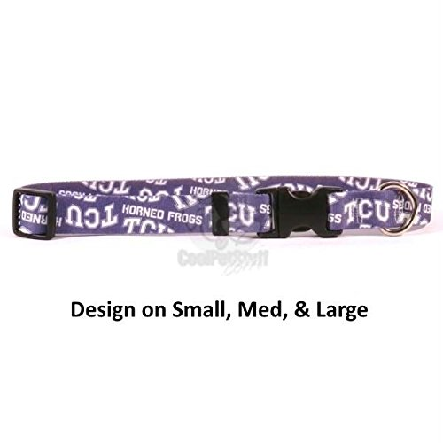Pet Care Preferred TCU Horned Frogs Nylon Collar - Small by Pet Care Preferred