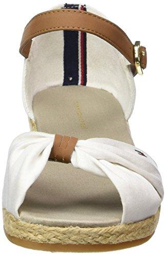 Blanc Bride Talon Tommy à K3285RISTIN Fille compensé 1C 100 Hilfiger et Sandales 1wqvXUHw