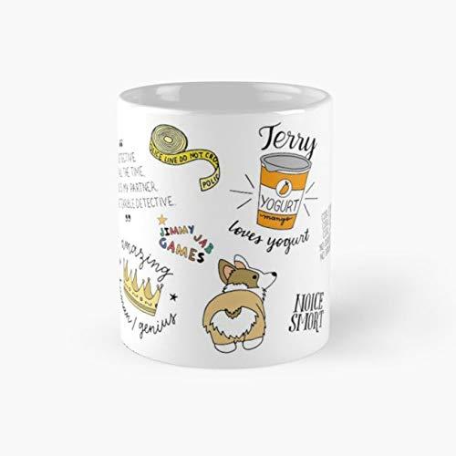 Brooklyn Nine Nine TV Show Art Mug, brooklyn nine nine Cup, 11 Ounce Ceramic Mug, Perfect Novelty Gift Mug, Funny Gift Mugs, Funny Coffee Mug 11oz, Tea Cups 11oz