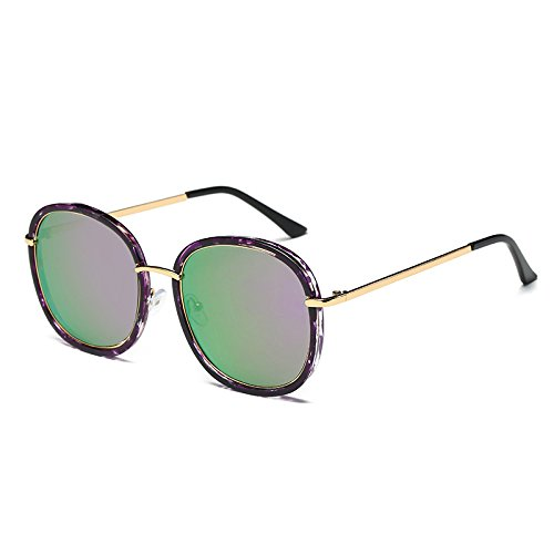 Negro señoras Mujer Bastidor sol de C3 Sunglasses de TL tonos gafas Flor Amber polarizadas UV sol Unidad azul C4 Cuadrado gafas G410 espejo gafas de wRO6tY