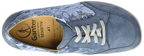 Ganter Sensitiv Inge-i, Scarpe Stringate Donna Blu (Jeans)