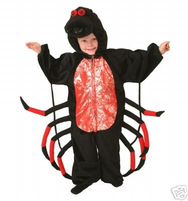 [Plush Animal Costume Halloween Spider Toddler XS 1/2 yrs] (Spider Costume Toddler)