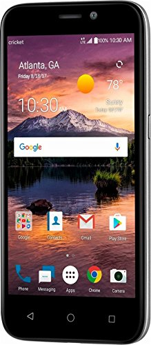 Cricket Wireless – ZTE Prelude+ 4G LTE with 8GB Memory Prepaid Cell Phone – Black with Silver