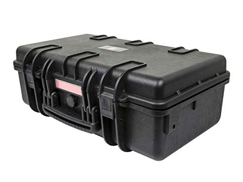 Monoprice Weatherproof/Shockproof Hard Case - Black IP67 Level dust and Water Protection up to 1 Meter Depth with Customizable Foam, 22