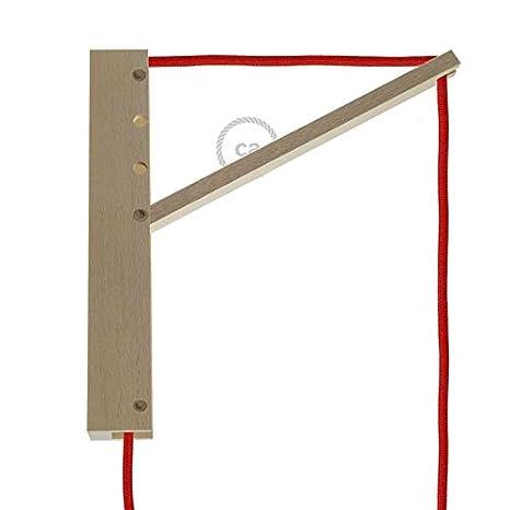 Creative-Cables sstln01 Pinocchio, soporte a pared regulable para lámparas de techo, marrón