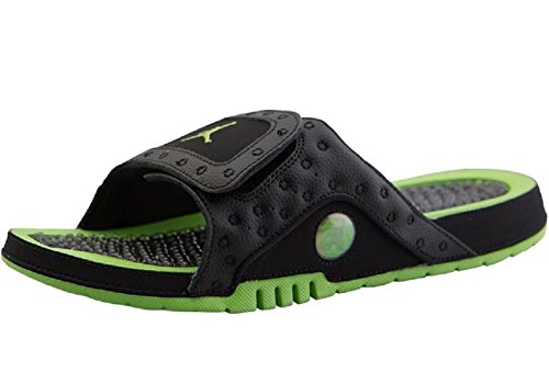 Jordan Men Jordan Hydro XIII Retro Slide black altitude green-altitude green Size 8.0 US (Air Jordan Hydro)