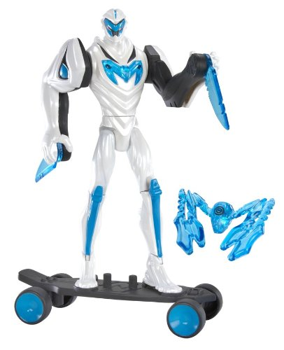 Max Steel Deluxe Turbo Skateboard Max Steel Figure and DVD, 6-Inch