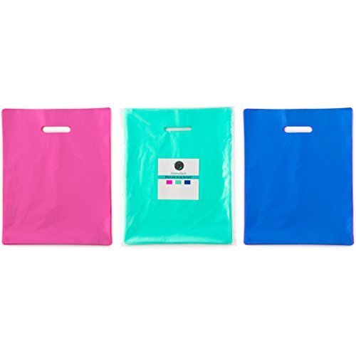NEW 150 9x12 Teal, Royal Blue, Pink Premium LDPE Plastic Merchandise Bags, Best for Retail Shopping, Lularoe T-shirt Grocery Birthday Gift, Party Favor, Extra 2 mil ()