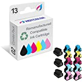 HOTCOLOR Remanufactured Ink Cartridge Replacement for HP 02 Work for HP Photosmart 3110 3210 3310 8250 C5100 Printer…