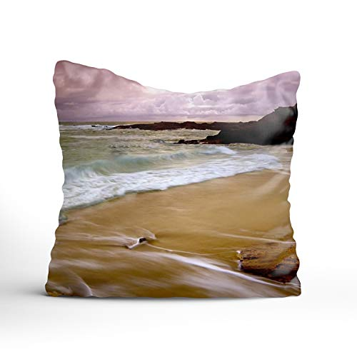 TIANYI Earth Beach Coast Ocean Rock Laguna Horizon Throw Pillow Cases Personalized Decorative Cushion Cover Car Sofa Home 24 x 24 inch