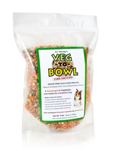Dr. Harvey's Veg-To-Bowl Fine Ground Dehydrated Vegetable Pre-Mix for Dogs, 3-Pound Bag, My Pet Supplies