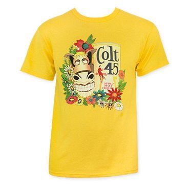 Colt 45 Gold Donkey Tee Shirt Large - Yellow Donkey T-shirt