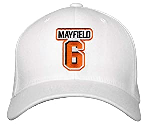 Baker Mayfield Hat - Cleveland Football Adjustable Cap (White)