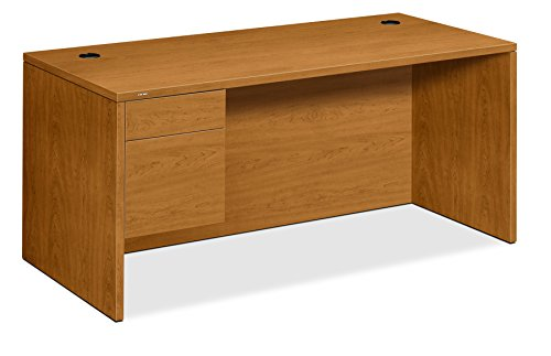HON Bow Top Double Pedestal Desk, 72 by 36 by 29-1 2-Inch, Harvest