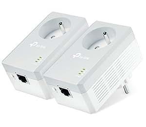 TP-Link TL-PA4015PKIT - Adaptador de comunicación por línea eléctrica (RJ-45, 500 Mbit/s, 2 unidades), blanco