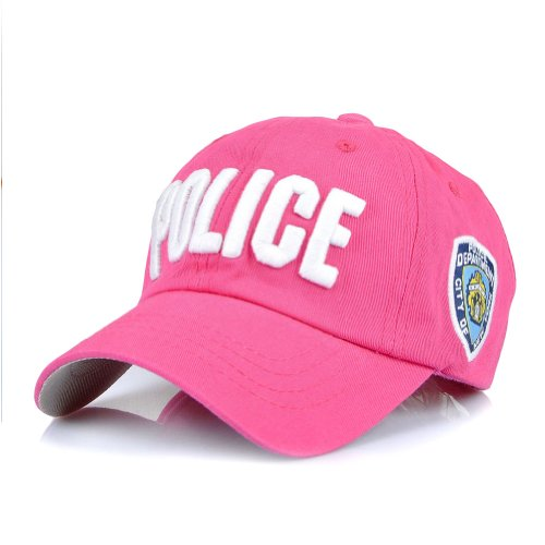 LOCOMO Girl Police New York Badge Embroidery Snapback FFH090ROS -
