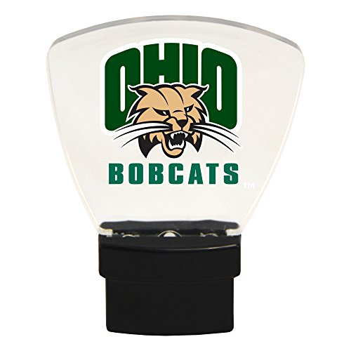 Authentic Street Signs NCAA Officially Licensed-LED NIGHT LIGHT-Super Energy Efficient-Prime Power Saving 0.5 watt, Plug In-Great Sports Fan gift for Adults-Babies-Kids Room (Ohio Bobcats) from Authentic Street Signs