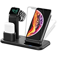 Beacoo 3-in-1 Wireless Charging Stand for Apple Watch Series 5/4/3/2/1, AirPods