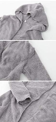 Cómodo Manga Outerwear Anchos Fiesta Suave Con Termica Invierno Otoño Chaqueta Abrigos Polares Mujer Cardigan Gris Larga Casuales Capucha SAzUw4q6