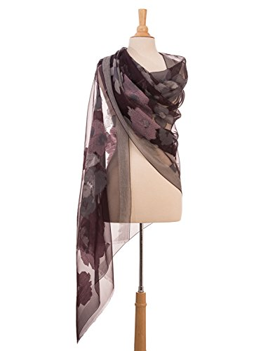 Elizabetta Italian Silk Organza Fil Coupè Evening Formal Shawl Wrap Scarf