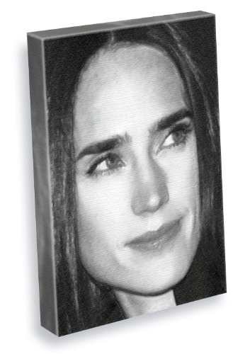 JENNIFER CONNELLY - Canvas Print (A4 - Signed by the Artist) #js005