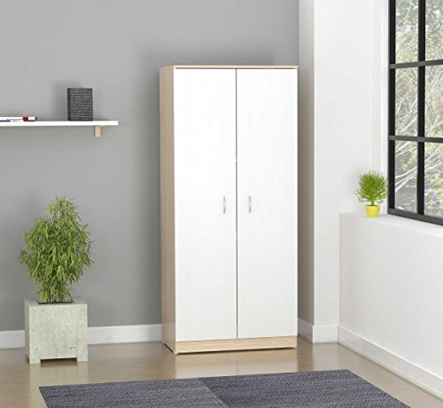 (Inval Washed Oak Armoire)