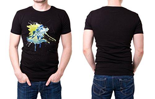Feldhockey schwarzes modernes Herren T-Shirt mit stylischen Aufdruck