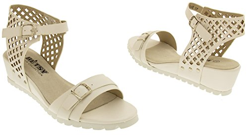 Footwear Studio Sandali Bianco Wedge Estive Betsy Donna rrqz1