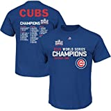 Your Chicago Cubs are 2016 World Series Champions, so make sure you're ready to celebrate like a pro! This Majestic Sweet Lineup Roster T-Shirt is the perfect addition to your wardrobe. The vibrant graphics on this Chicago Cubs item are perfe...
