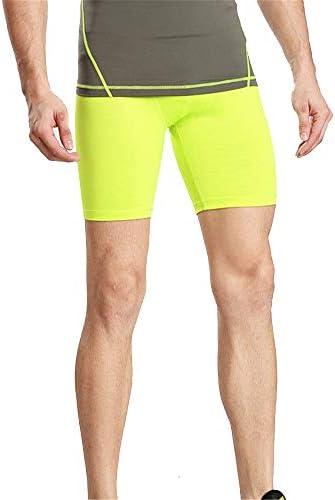 メンズ スポーツ タイツ ショーツストレッチ速乾性ショーツを実行しているメンズタイトなトレーニングパンツスポーツフィットネス 吸汗速乾 トレーニング (色 : 緑, Size : S)