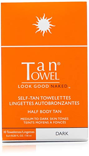 Tan Towel Half Body Tan Dark, 0.25 fl. oz. (Tan Body Towels)
