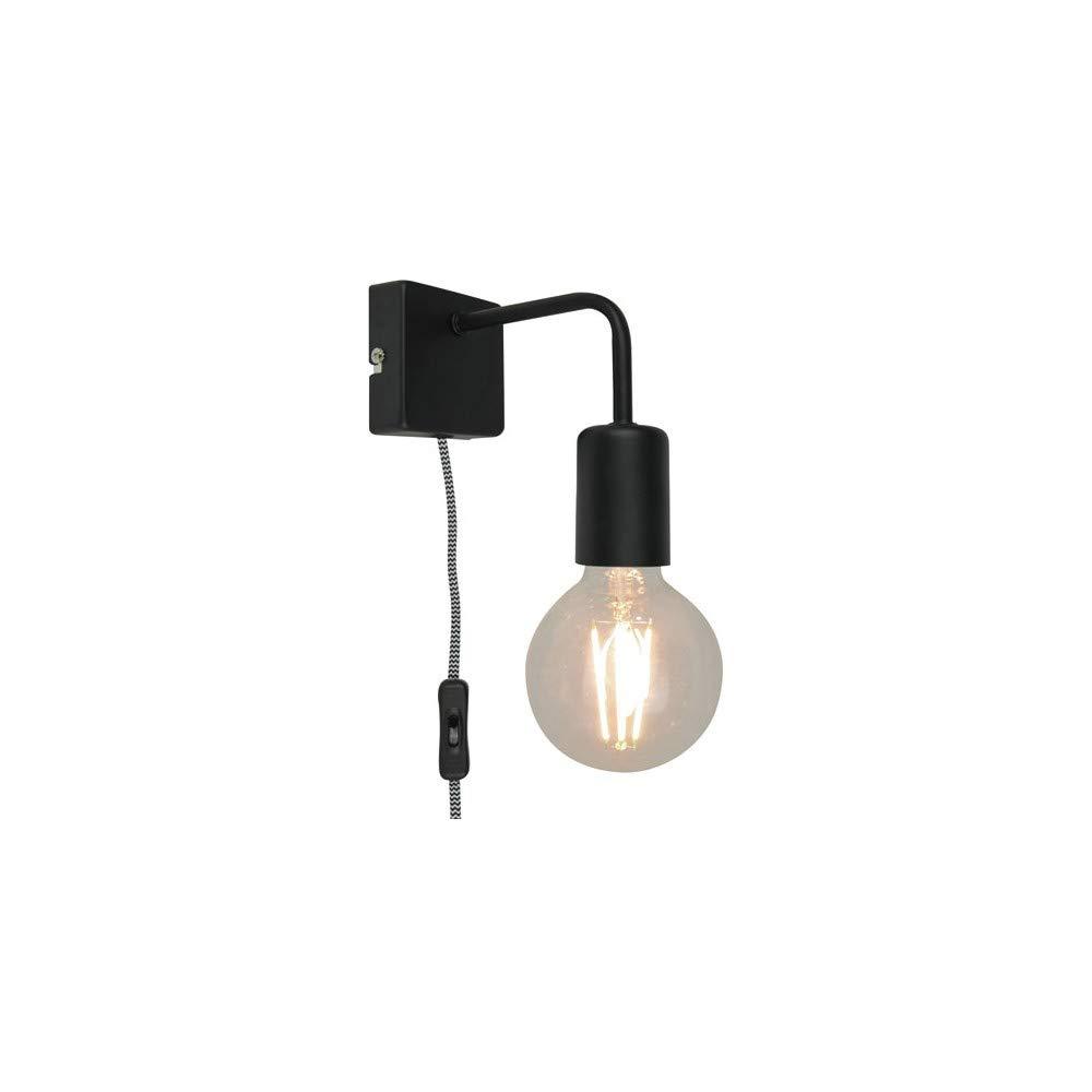 LINA - Applique avec interrupteur Métal Noir L15cm - Applique Sampa Helios designé par