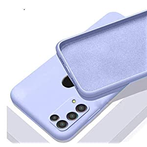 Mobistyle Liquid Silicone Matte TPU Shockproof Slim Back Cover Case for Samsung Galaxy M31 (Light Purple)