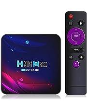 2021 Android TV Box 11.0 Smart MAX TV Box RK3318 USB Stöd 2.4G 5G Wifi Bluetooth 4.0 Ethernet LAN 3D Ultra HD 4K Video Android TV-Spelare Mini Set Top TV Box RAM ROM