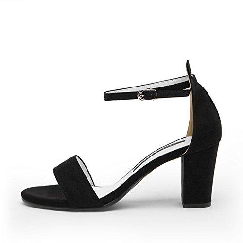 Femme Avec Shoeshaoge Dew L'high À Pour Eu40 toe Rome Fendue Épais Sandales heel Shoes Étudiants 5HzSqwXS
