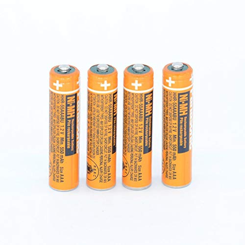 4PCS NI-MH AAA Rechargeable Battery For Panasonic HHR-55AAABU 1.2V Replacement Battery (Panasonic Phone Battery Aaa)