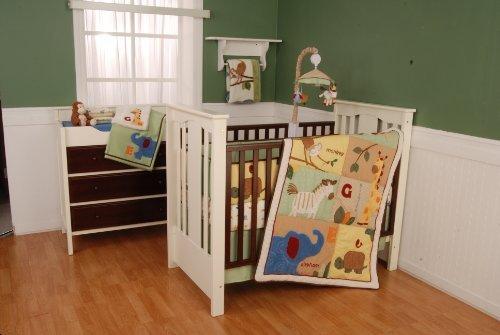Safari Animals 4 Piece Crib Bedding Set