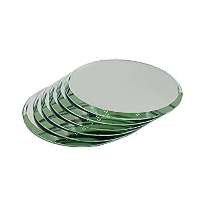 "1.5"", Set of 6 High Quality Beveled Round Mirrors For Your Crystal Figurines and Other Collectibles (1.5"")"