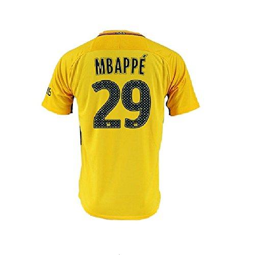 new arrival 81010 07372 Men's Mbappé Jerseys Paris Saint-Germain 29 Football Jersey Soccer Jersey  Yellow (L)