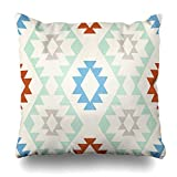 "Soopat Decorative Throw Pillow Cover Square Cushion 18""X18"" Cover Greeting Colorful Ethnic Geometric"