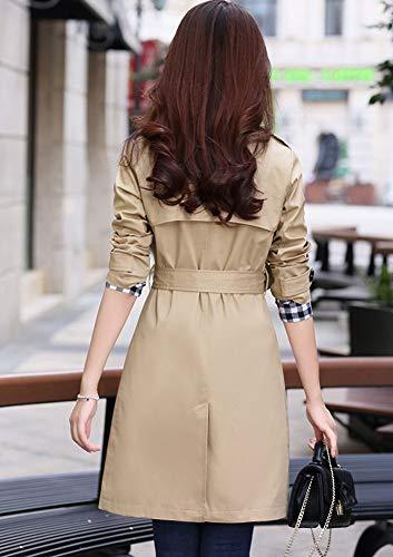 Trench Femme Manteau Coat Blouson Long Veste Manteaux Longue Kaki GladiolusA q5TStx