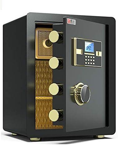 スマート指紋金庫、ホーム壁掛けオフィス金庫、オフィス小型スチールアラーム45cm