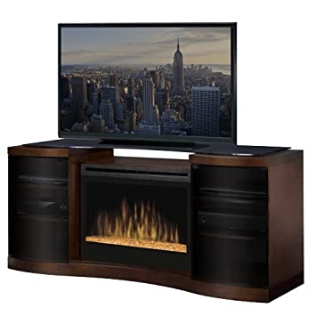 Amazoncom Acton 73 TV Stand with Electric Fireplace Insert