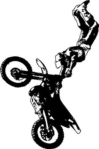 Amazoncom MOTORCROSSDIRT BIKE WALL STICKERS DECALS GRAPHICS ART - Decal graphics for dirt bikes