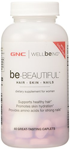 GNC Be-Beautiful Hair Skin Nails 60 Caplets dietary supplement for women