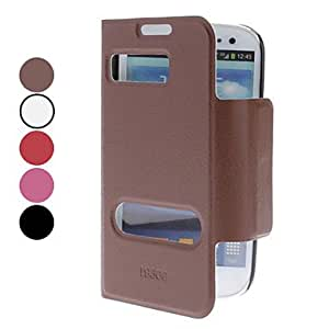 Solid Color PU Leather Full Body Case with Stand for Samsung Galaxy S3 I9300 (Assorted Colors) --- COLOR:White
