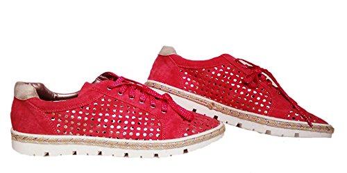 Blucher talla Bamba para 41 EGGS mujeres rojo color 6wq7C75